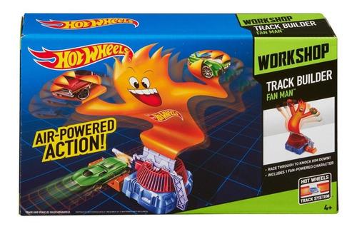 hot wheels - accesorio para pistas - hombre de llamas