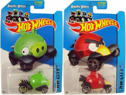 hot wheels angry birds red bird & minion pig solo envios