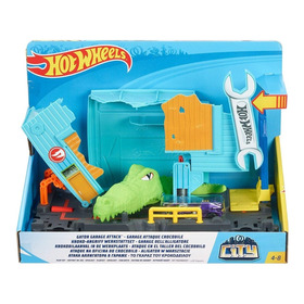 Hot Wheels Ataque De Cocodrilo Mas Auto Hot Wheels Pista