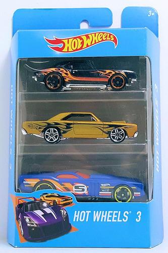hot wheels autitos pack x 3 original mattel 2018 x3