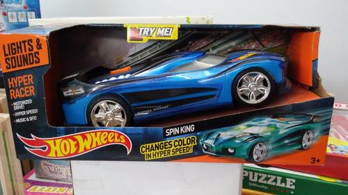 hot wheels auto racer spin king sonido cambia de color