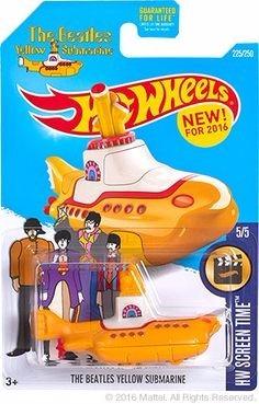 hot wheels auto the beatles submarino amarillo