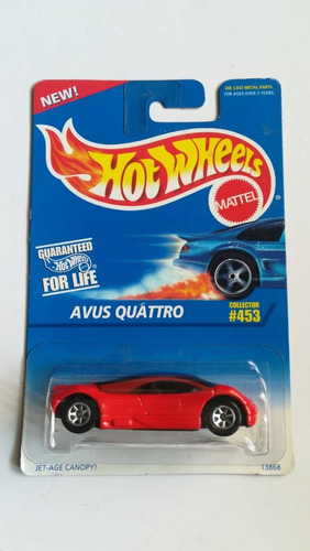 hot wheels avus quattro rojo 1995