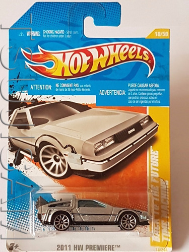 hot wheels back to the future time machine delorean