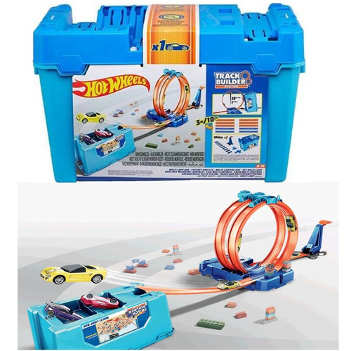 hot wheels balde completo track builder multi loop mattel