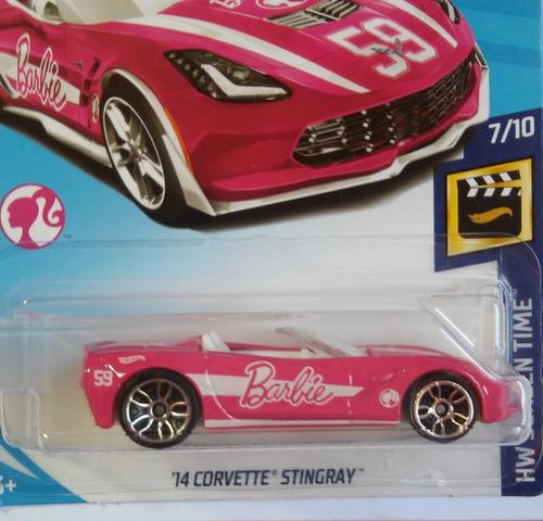 hot wheels - barbie 14 corvette stingray temático