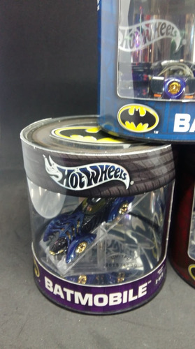 hot wheels batimovil batmobil batman oil can lata azules
