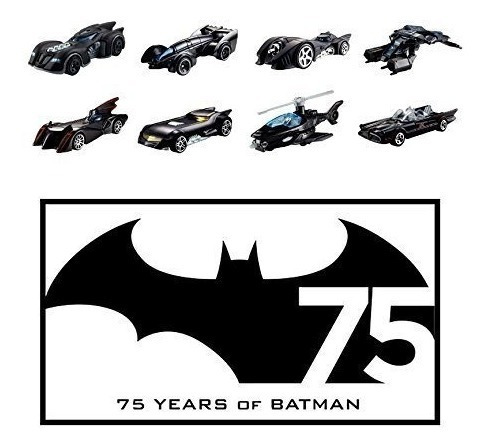 hot wheels batman 75 aniversario conjunto de 8 batman vehicu