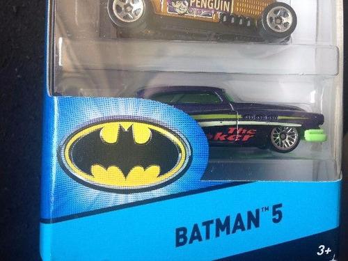 hot wheels batman pack de 5 batimobil unico