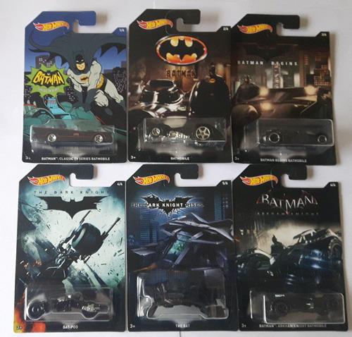 hot wheels batmobile batman batimovil x6 coleccion completa