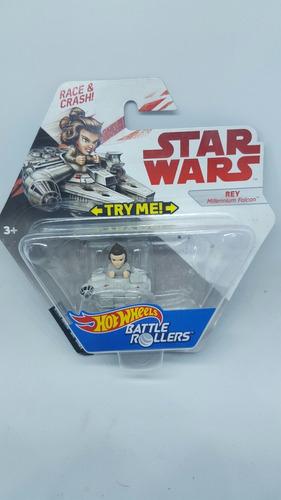 hot wheels battle rollers rey millenium falcon