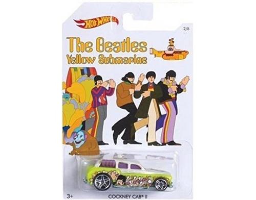 hot wheels  beatles  yellow submarine - cockney cab  1/64