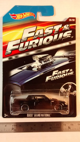 hot wheels buick grand national de fast & furious