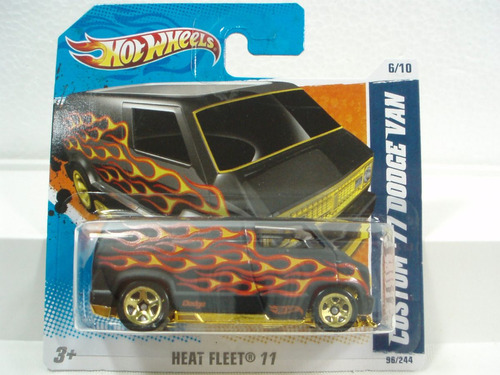 hot wheels camioneta custom '77 dodge van  tc 96/244 2011
