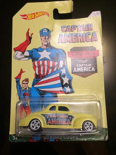 hot wheels capitan america 40' ford coupe 1/8