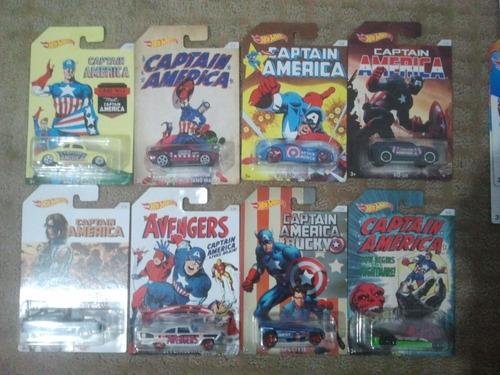 hot wheels capitán américa serie completa