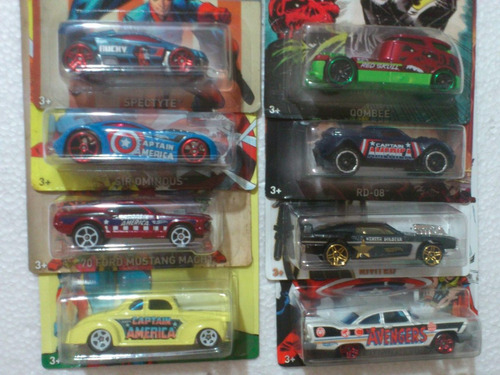 hot wheels capitan america set 8 carros nuevos