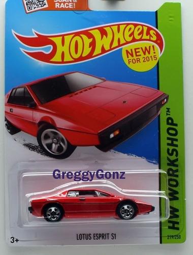hot wheels carrinho lotus esprit s1 vermelho 219/250 mattel