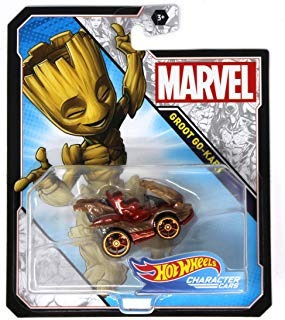 hot wheels character cars marvel groot go-kart  envío gratis