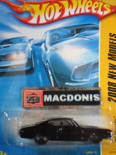 hot wheels chevy 69 chevelle black bandit exclusivo macdonis