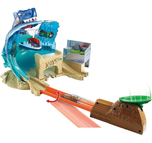 hot wheels city conjunto ataque tubarão - mattel