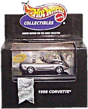 hot wheels coleccionables 1998 silver corvette edición limi