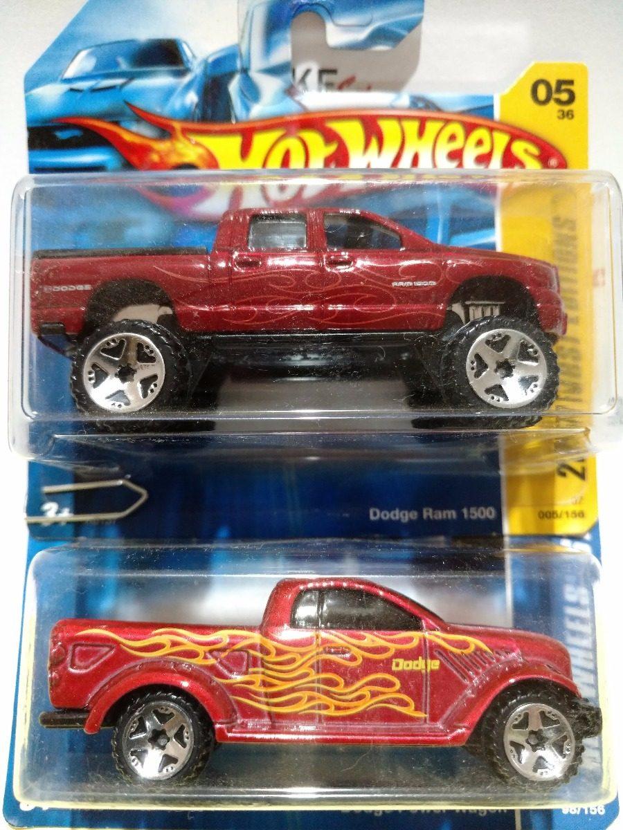 Hot Wheels Conj 2 Pick Up Dodge Ram 1500 E Power Wagon R 3000 Carregando Zoom