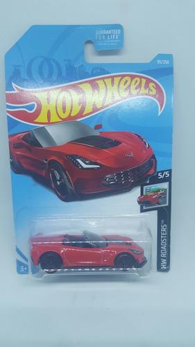 hot wheels corvette c7 z06 carrito a escala roadsters