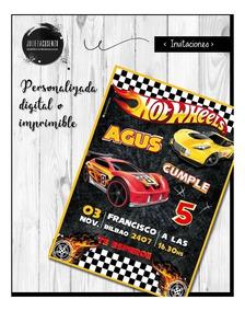 Hot Wheels Cumpleaños Invitacion Digital E Imprimible