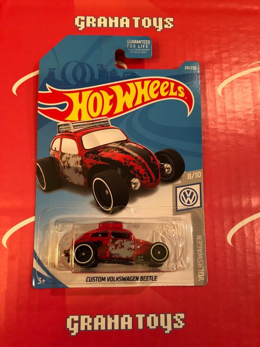 hot wheels custom volkswagen beetle  rojo   en mercado libre