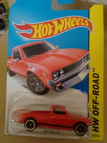 hot wheels datsun 620 roja camioneta troka