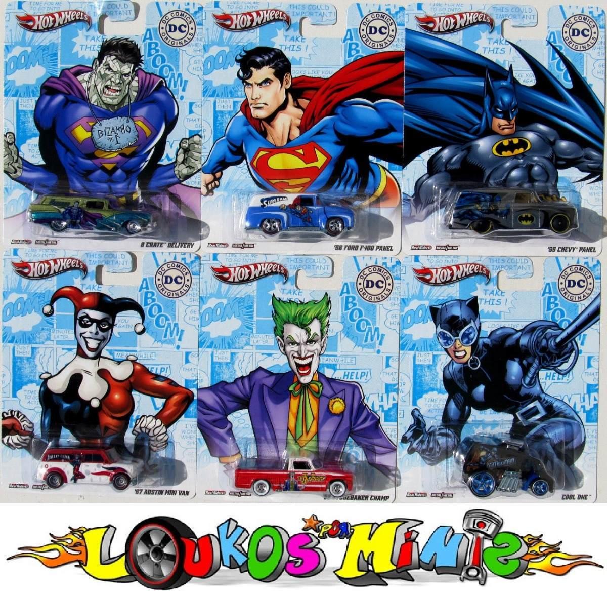 605337d7d6 Hot Wheels Dc Comics Set 6 Minis Pop Culture 2012 Lacrado - R  359 ...