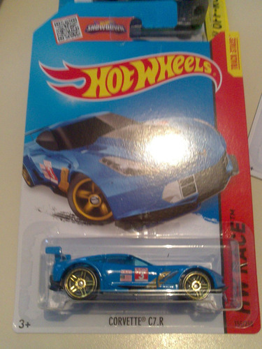 hot wheels de coleccion 2015 corvette c7r azul