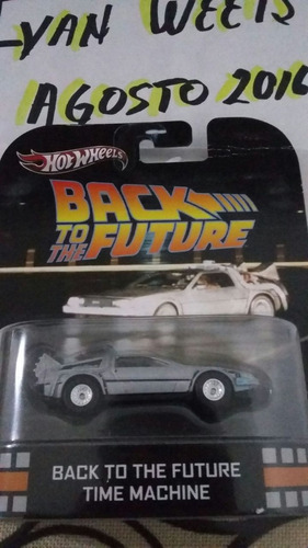 hot wheels delorean back to the future - primera edición