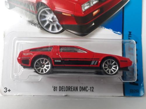 hot wheels delorean dmc 12 auto a escala