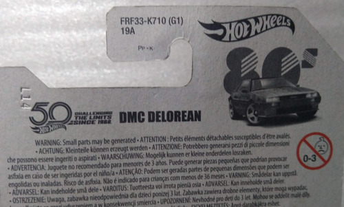 hot wheels delorean dmc 50 años decadas nuevo sellado