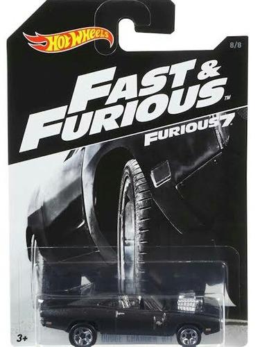 hot wheels dodge charger r/t '70 rapido y furioso 7 barato