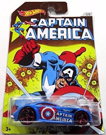hot wheels edicion especial super heroes capitan america