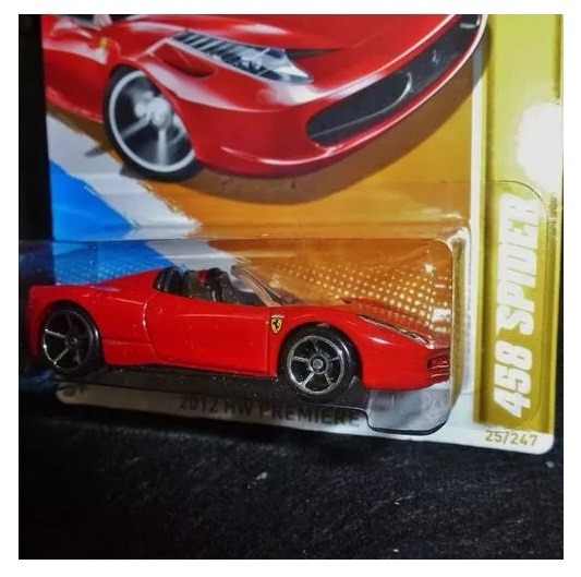 Hot Wheels Ferrari 458 Spider 2012   Lacrado!