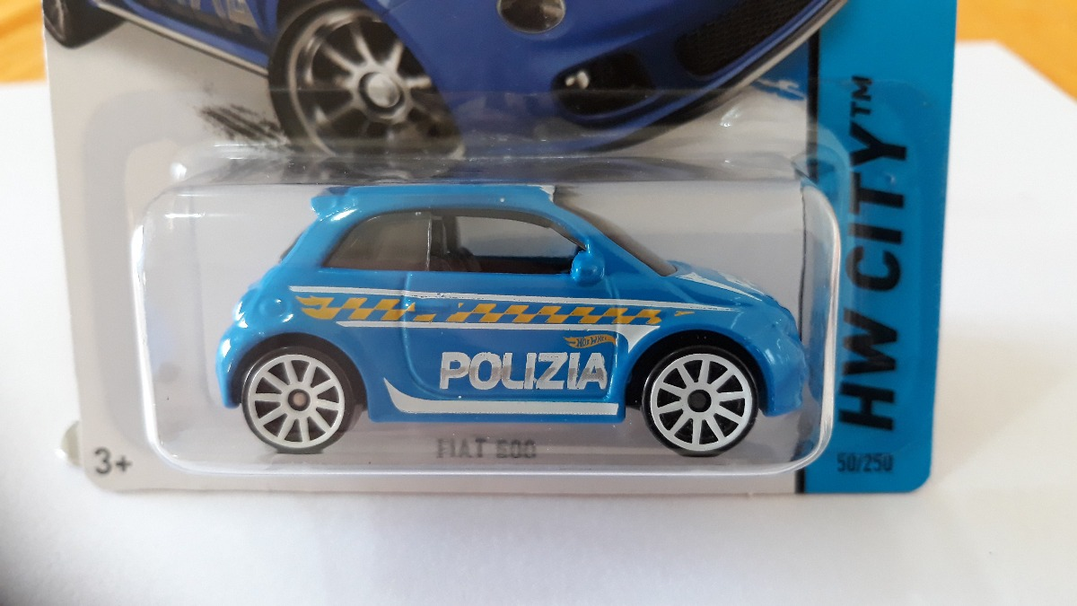 Hot Wheels Fiat 500 Polizia 2015 Lacrado