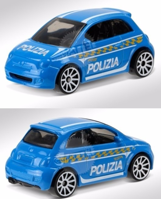 Hot Wheels Fiat 500 Polizia Policia Patrulla Th