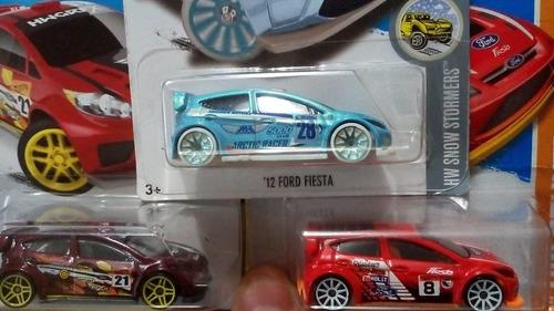 hot wheels ford fiesta - 3 unidades diferentes aproveite !!!