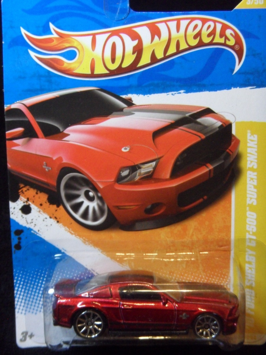 Hot wheels ford mustang shelby gt500 super snake 2010 c017 carregando zoom