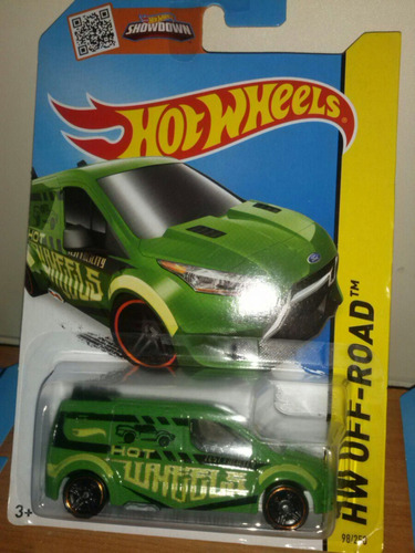 hot wheels ford transit connect verde