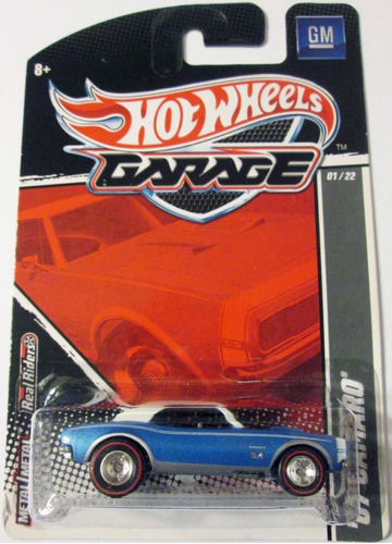 hot wheels garage ´67 camaro ruedas de goma escala 1:64