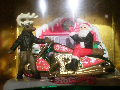 hot wheels holiday natal papai noel scorchin scooter moto