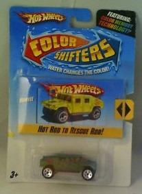hot wheels humvee hummer militar color shifters solo envios