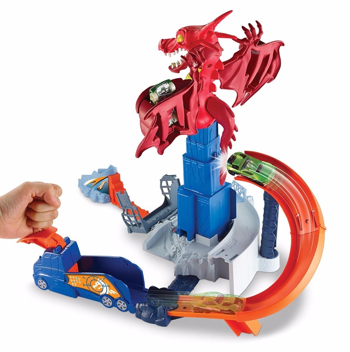 Hot Wheels Juego Creativo Dragon Attack Pista De Carros S 160 00