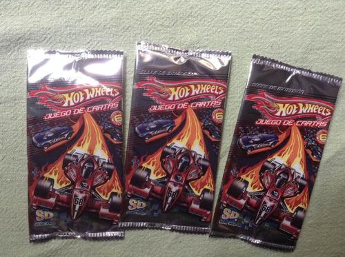 hot wheels juego de cartas metalizadas mazo trading cards