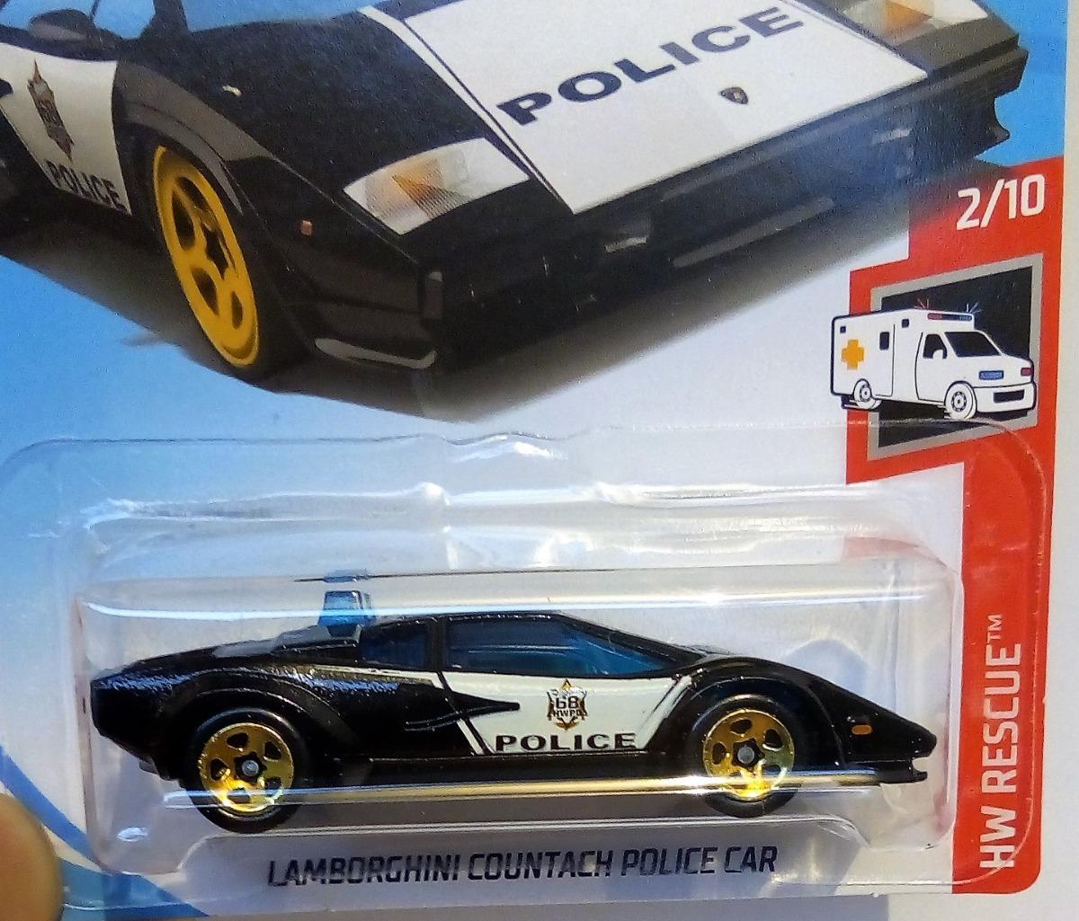 Hot Wheels Lamborghini Countach Police Car 45 00 En Mercado Libre